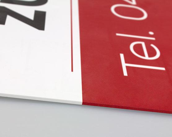 Aluverbund Schild mit umlegter Kante