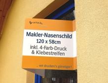 Beispiel 1 von Makler Nasenschild 120 x 50 cm