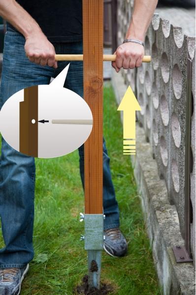 Beispiel 2 von Maklergalgen aus Holz