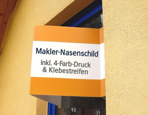 Beispiel 1 von Makler Faltschild 140 x 50 cm