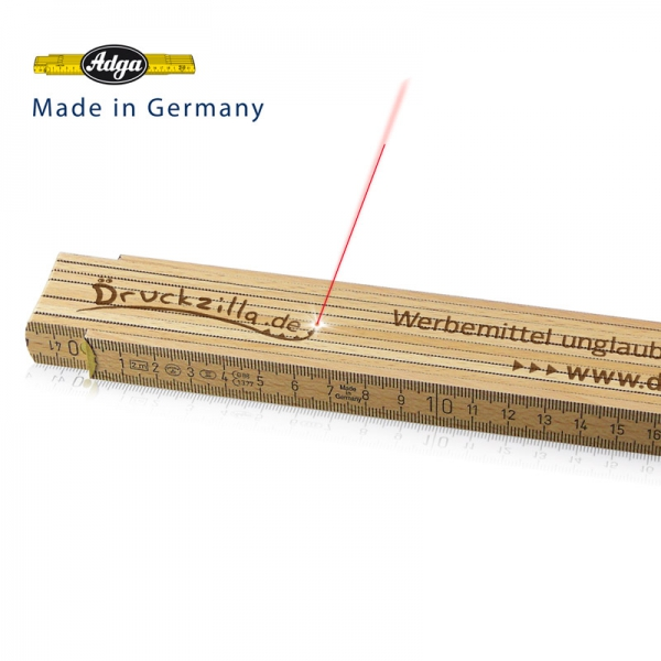 Zollstock 2 m - mit Gravur