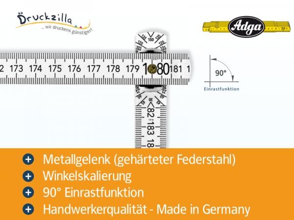Beispiel 4 von Zollstock 2 m - ADGA 250+ - weiß